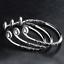 Fashion-Women-925-Sterling-Silver-Hoop-Sculpture-Cuff-Bangle-Bracelet-Jewelry-L7 thumbnail 8