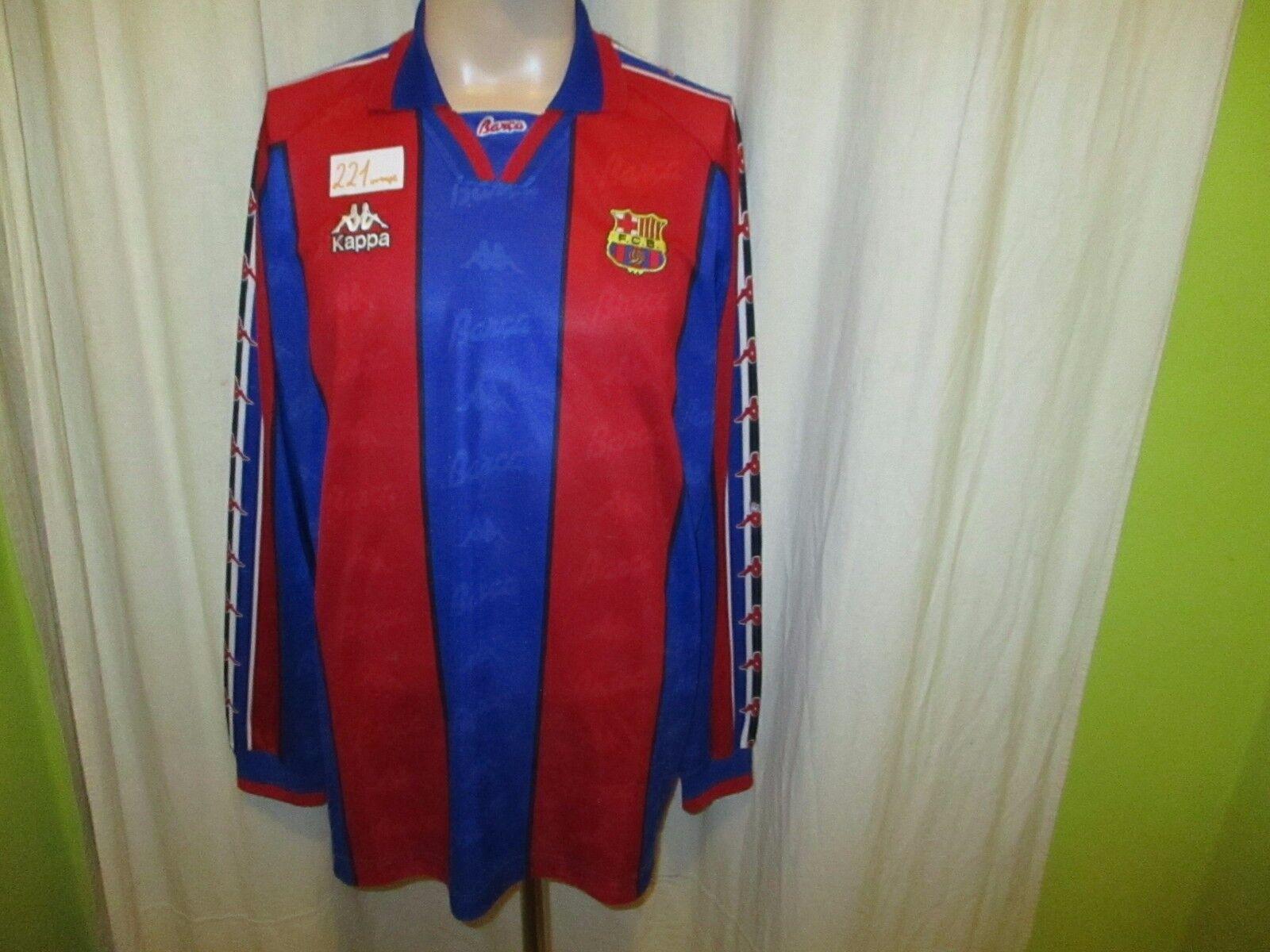 FC Barcelona Kappa Langarm Trikot 1995-1997  ohne Hauptsponsor  Gr.XL