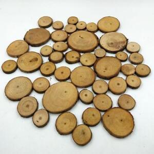 160-pieces-en-tranches-naturelles-en-bois-pour-les-ornements-de-bricolage