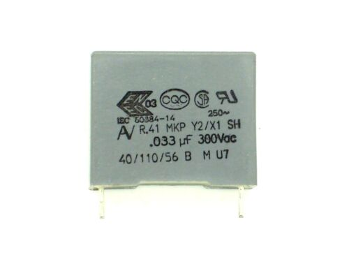 33nf, condensatore, entstörkondensator 1x 0,033µf 300v ~ AV rm15 K b31