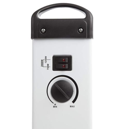 Warmlite Slimline Électrique Portable Convecteur Convecteur 2000 W-Blanc