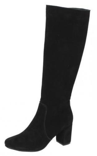 Leather Collection Donna al Ginocchio Neri F50536 In Pelle Scamosciata Boot F50536 Neri X8 (R19A) 5315df