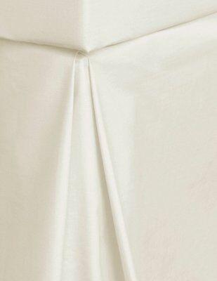 PLAIN CREAM  SINGLE SIZE SOFT 100/% EGYPTIAN COTTON PERCALE PLATFORM BASE VALANCE