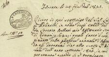Ferrara Saldo di Affitto Villa di Gambulaga  1825
