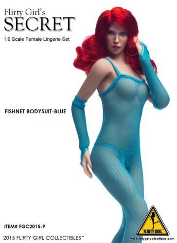 Flirty Girl 1//6 SECRET FGC2015-9  BLUE Fishnet Bodysuit Set New