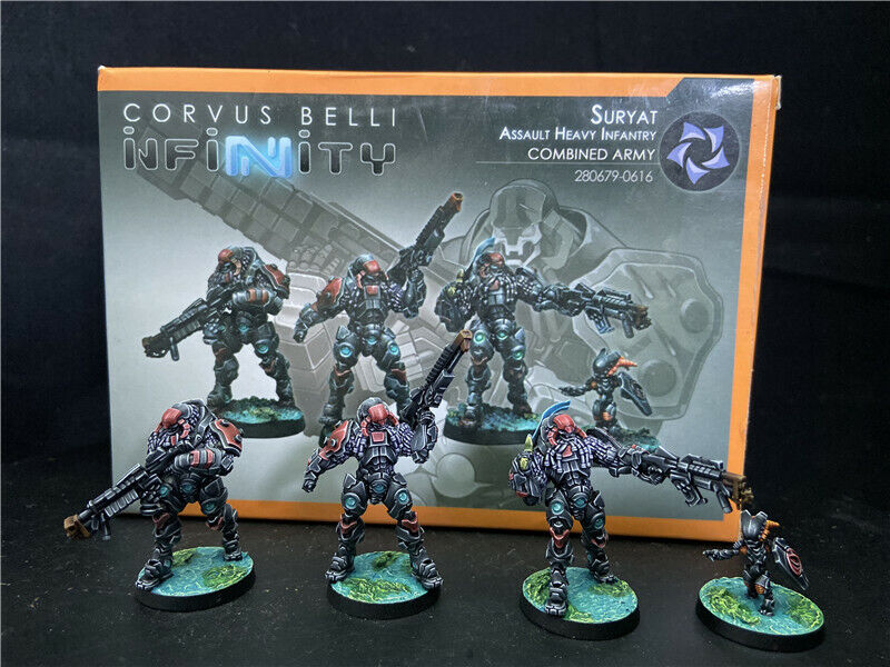 30mm Infinity DPS painted Combined Army Suryats, Assault Heavy Infantry INF283