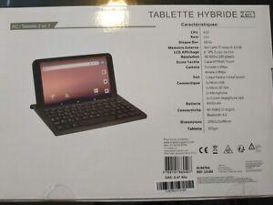 "Tablette hybride 2 en 1,  8"" Klipad KL9878A Noir 1Go RAM, disque dur 16Go"