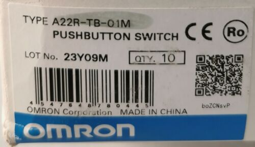Details about  /10  XA22R-TB-01M //A22RTB01M Omron 22mm Pushbutton Switch Momentary Black SPST-NC