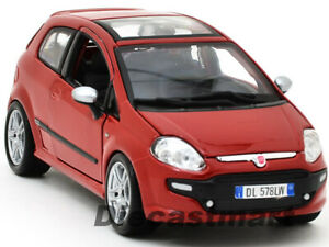 BbURAGO-1-24-FIAT-PUNTO-EVO-NEW-DIECAST-MODEL-CAR-RED