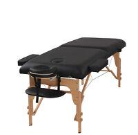 "Heaven Massage Black 3"" Portable Massage Table w/Free Carry Case & Accessories"