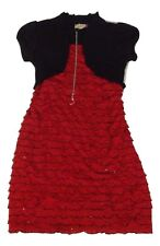 Speechless Girl's Plus Size 12 1/2 Black/Red Stone Necklace Sequin Dress NEW $62