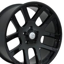 "22"" Fits Dodge RAM 1500 SRT Style Wheels Black 22x10 Set of 4 Rims Durango W1x"