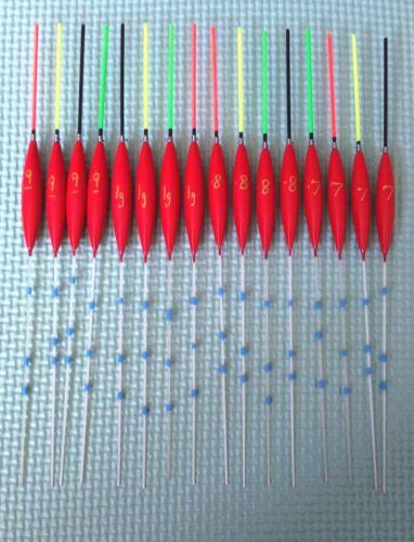 "/""High Quality Chianti Style Handmade Pole Floats 50mm Tips Hi Viz Sensitive"