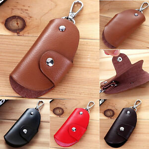 f0f530f756da Details about Mens Women Leather Key Wallet Case Holder Purse Pouch Bag  Organiser Keyrings New