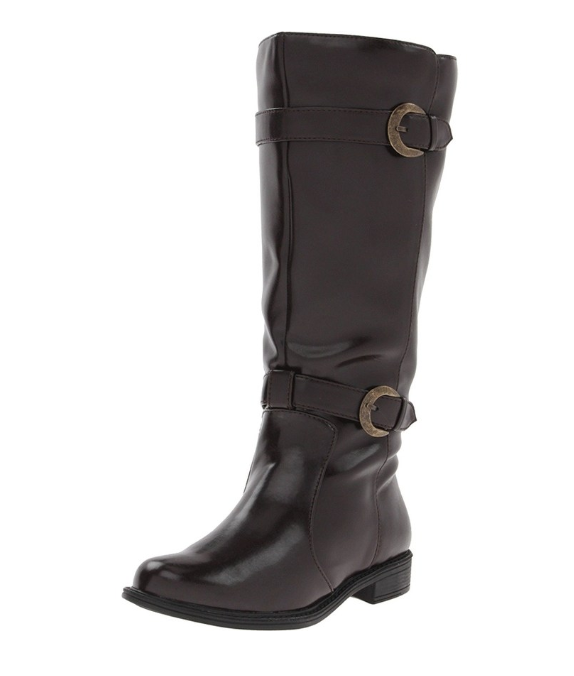 David Tate Mustang Dark Brown Knee High Boots 7068 Size 6 M