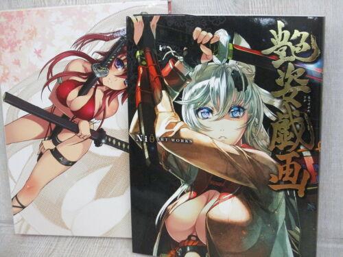 NISHI Art Works ADESUGATA GIGA w//Poster Toranoana Ltd Art Illustration Book HJ