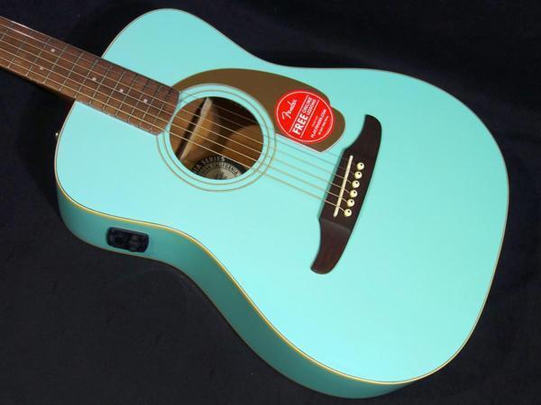 Fender Malibu Player Aqua Splash beutiful JAPAN rare useful EMS F/S