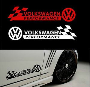 Details About Styling Volkswagen Performancewith Checks Decal Sticker For Bodywork