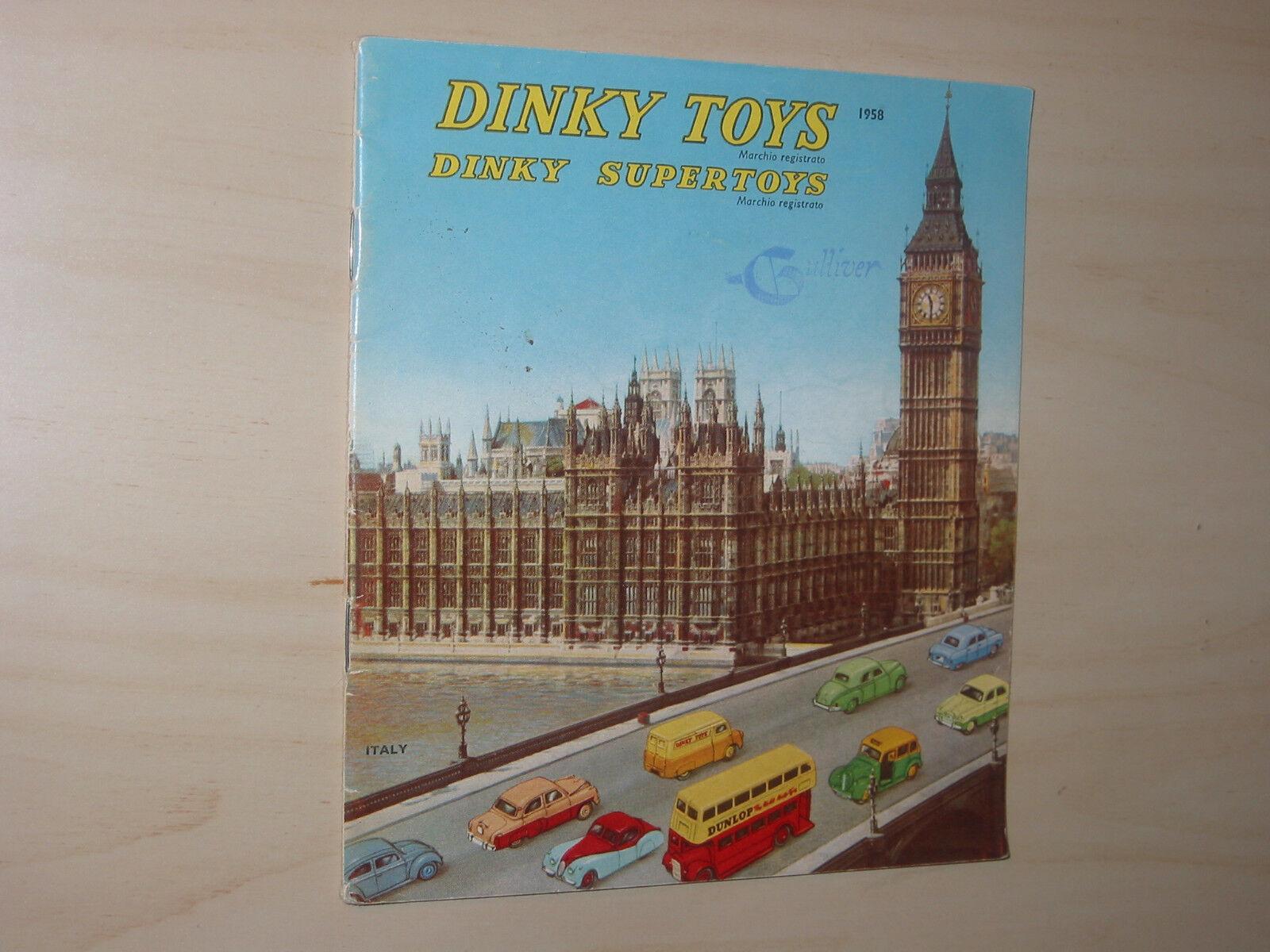 Original Vintage 1958 Meccano Ltd Dinky Juguetes & súperJuguetes catálogo Reino Unido Gulliver