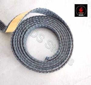 2m Stove Glass Seal Tape Fire Rope Gasket Woodburner Black