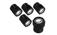 Harley-Davidson Willie G Skull Black Valve Stem Caps - (Set of 5)