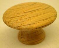 [12] Unfinished Oak Cabinet Drawer Pulls Knobs Handles 1.25 W/brass Inserts Rl