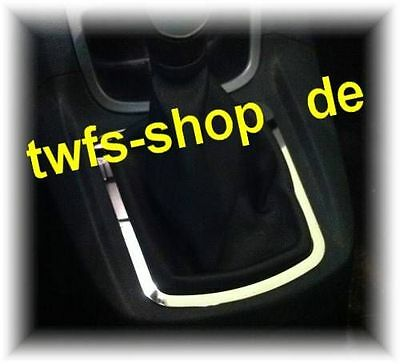 D Ford Fiesta JA8 08- Chrom Rahmen für Schaltung  - Edelstahl poliert