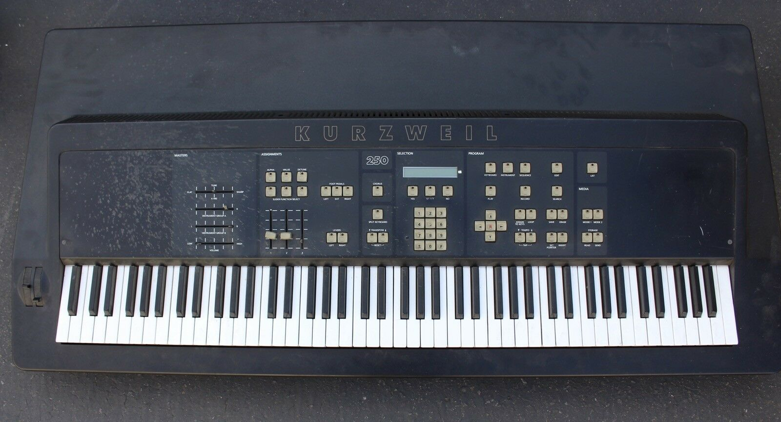 Seltene Vintage Kurzweil KMS-250 Elektronischer Keyboard-Sampler SyntheGrößer K250