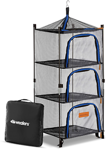 Wealers Outdoor Dry Net Storage And Food Screen 3-Tier Camping Picnic Barbecue