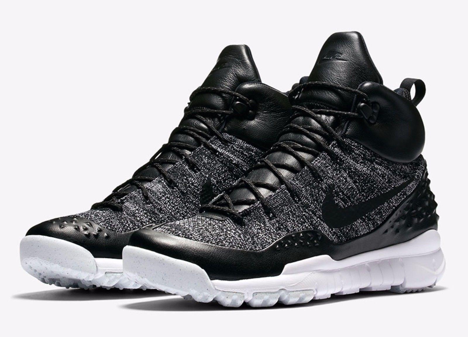 New Sz 8.5 Men's Nike Lupinek Flyknit NikeLab NSW Oreo Black White 862505-001 B