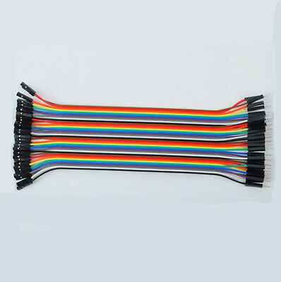 Male to Female 1p-1p 20cm Jumper Ribbon Wire Dupont Cable Kabel Arduino 40Stk