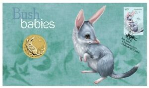 2011-Australia-Bush-Babies-Bilby-1-Coin-PNC-Stamp-amp-Coin-Cover