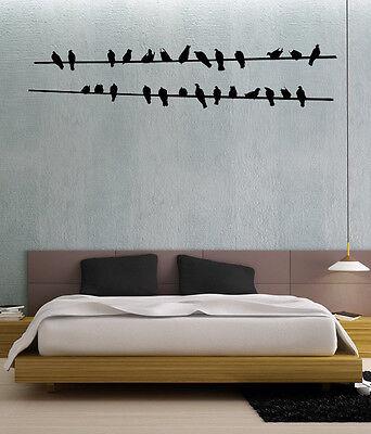 VINILO DECORATIVO PARA PARED DECORACION -POLE BIRDS-130x30cm.