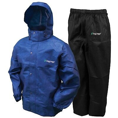 XXX-Large Dark Green Jacket//Black Pants Frogg Toggs Mens All Sport Rain Suit