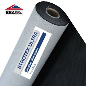1M x 50 M  Roof Roofing Breathable Felt Strotex Ultra Breathable Membrane 5901535402107