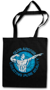 CLUB ADONIS BODYBUILDER STOFFTASCHE Sports Muscles Training Bodybuilding Body