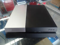 Sony PlayStation PS4 Console CUH-1102A BLACK & SILVER 500GB FOR PARTS NOT WORKIN