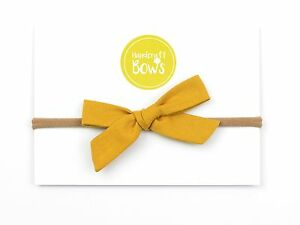 Mustard Baby Bow Baby Girls Bows Baby Headband Toddler Elastic ... 6498fd2f62a