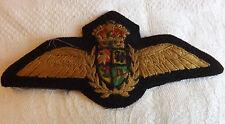 Original Military WWII South African Air Force Pilot Wings SAAF Badge (3000)