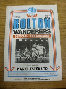 07-04-1980-Bolton-Wanderers-v-Manchester-United-Heavy-Creased-Folded-Worn-M
