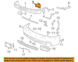 chevrolet gm oem 03 06 silverado 1500 front bumper inner bracket Chevy Brake Parts Diagram image is loading chevrolet gm oem 03 06 silverado 1500 front