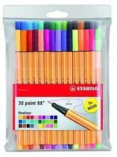 Stabilo 88 Fineliner conjunto de 30 Colores Colorear Bolígrafos con 5 Neon