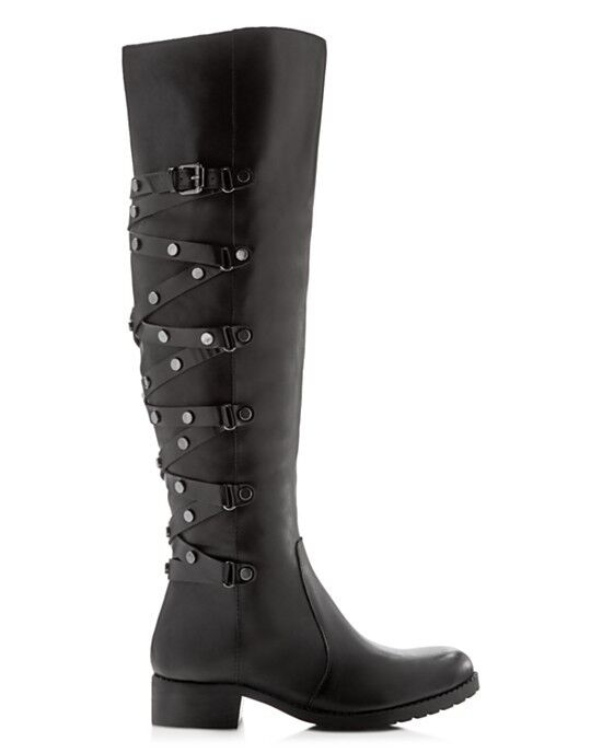 Carlos by Carlos Santana Metropolis Over the Knee Boots Black Leather Size 6-1/5