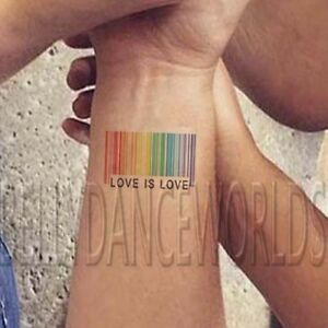 98d8a1db6 WHOLESALE LGBT Rainbow Barcode Gay Pride LOVE IS LOVE Temporary ...