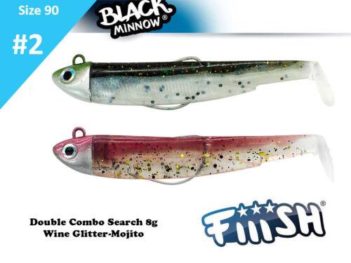 Hooks Lure Bodies jig Heads //Fiiish Black Minnow 120 Offshore Combo