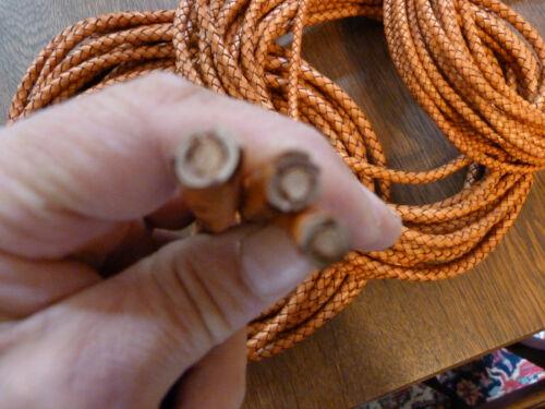 8,10 mm Durchmesser Bolaband Lederschnur Vollleder Lederband rund geflochten 6