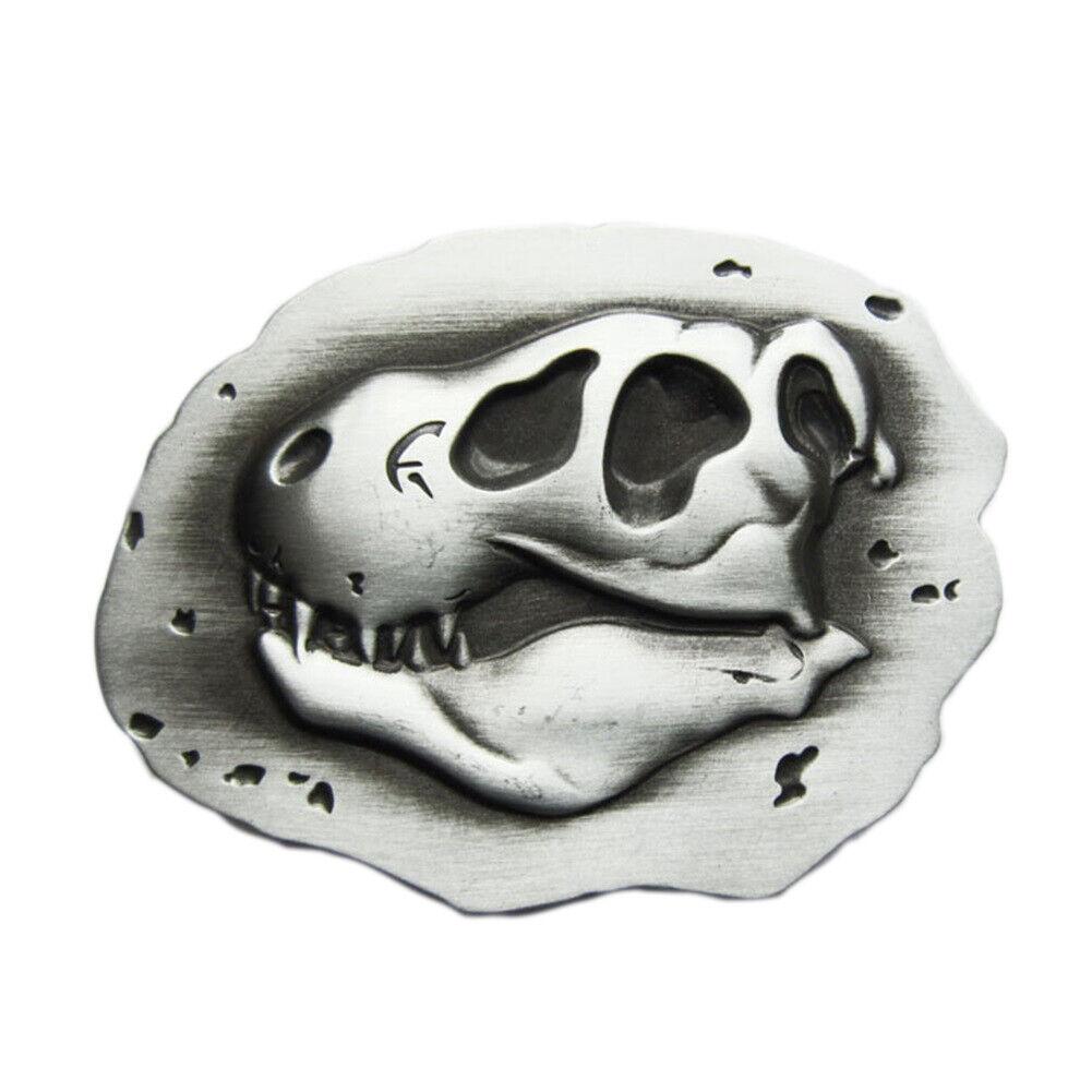 T-Rex Skull Gürtelschnalle Skulls Dinosaurier Tyrannosaurus Rex Fossil Dino