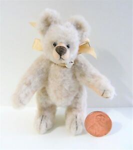 Artist-made-Miniature-Faux-Fur-Teddy-Bear-034-Fallon-034-by-Beth-Diane-Hogan-3-034-OOAK