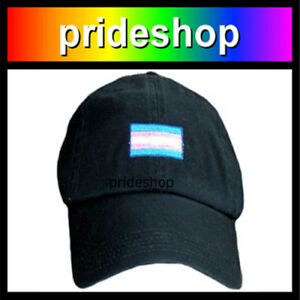 02d3926dd6c Image is loading Transgender-Flag-Embroidered-On-Black-Baseball-Hat-Cap-