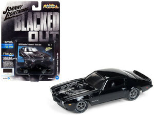 1-64-Johnny-Lightning-1973-Pontiac-Firebird-Trans-AM-Diecast-Bird-Black-JLCP7120